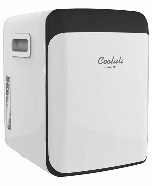 Cooluli Classic White 15 Liter Compact Portable Cooler