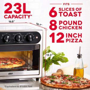 DASH DAFT2350-GBSS01 Chef Series Air Fry Oven, 23L