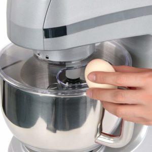 Silver Litchi 5.3 Quart 6-Speed Tilt-Head Stand Mixer