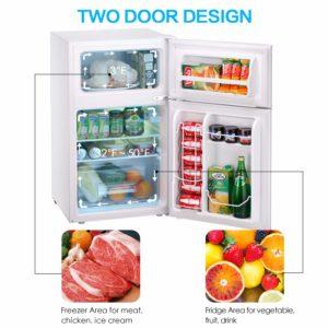 Tavata 3.2 Cu Compact Refrigerator Double Door TBCD-90