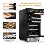 Colzer 15 Inch Wine Cooler, 30-Bottle Shelves