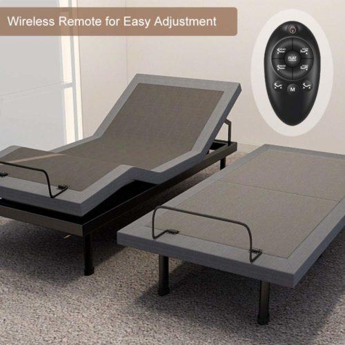 Milemont Adjustable Bed Base Frame Smart Electric Beds Foundation Remote