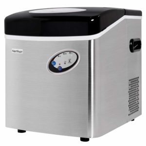 Northair 574ZB021 Portable Automatic Stainless Steel Ice Maker,48lbs