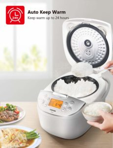 Toshiba TRCS01 Rice Cooker, 1L Fuzzy Logic