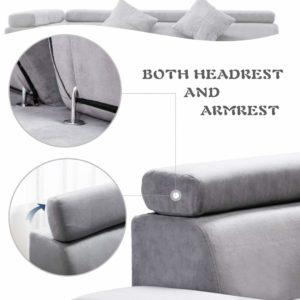 FDW Sleeper Sectional Futon Sofa