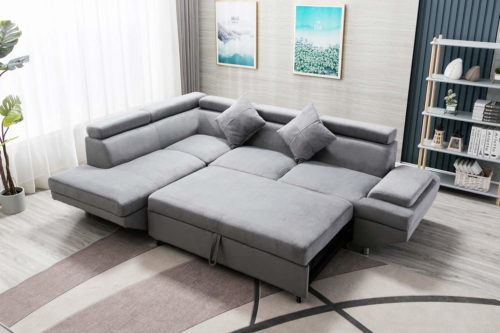 FDW Sleeper Sectional Futon Sofa Bed