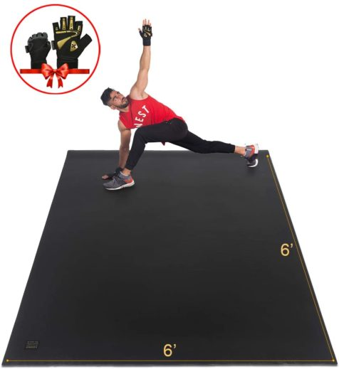 Gxmmat Large Exercise Mat 6'x6'x7mm