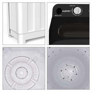 Kenwell Compact Twin Tub Portable Mini Washing Machine 24lb