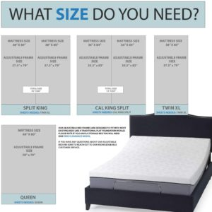 Blissful Nights Queen Adjustable Bed Base Sizes