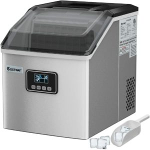 Costway Ice Maker 48lb Stainless Steel LCD Display