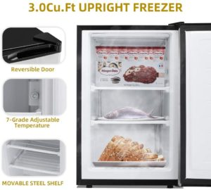 Kismile 3.0 Cu.ft Upright Freezer