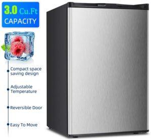Kismile 3.0 Cu.ft Upright Mini Freezer