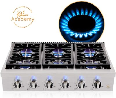 Kitchen Academy 36'' Gas Cooktop