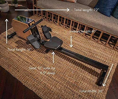 mindful living solid wood and steel rowing machine