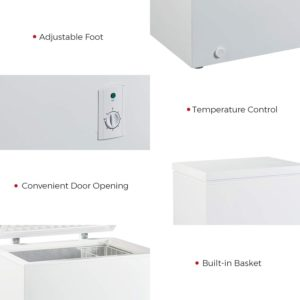 KEG Top Chest Freezer 7.0 Cubic Feet with thermostat