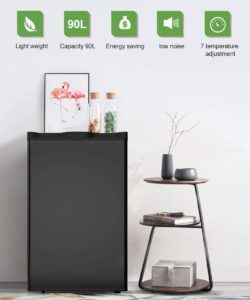Safeplus EP22680-BK 3.2 cu.ft. Compact Fridge