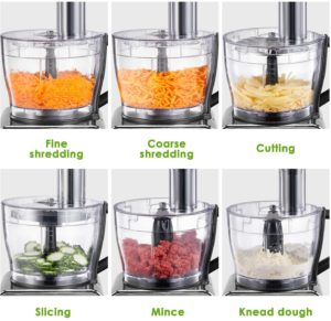 Decen Food Processor 12-Cup 600W 3 Speeds