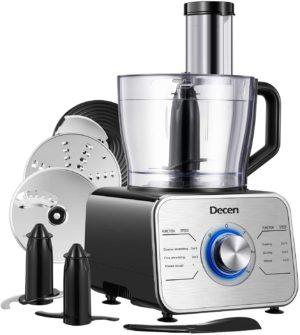 Decen Food Processor 12-Cup 600W
