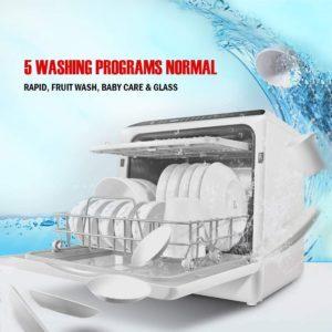 KAPAS Portable Countertop Dishwasher 3D Cyclone Spray