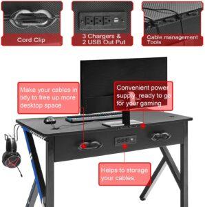 Mr IRONSTONE Gaming Desk office gamer workstation