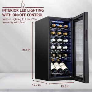 Schmecke 18 Bottle Compressor Wine Fridge