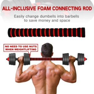 Tespon Adjustable Dumbbells Barbell 2 in 1 with Connector