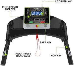 REDLIRO Folding Treadmill LCD Display