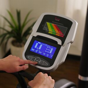 Sunny Health & Fitness Electric Eliptical Trainer, SF-E3875 LCD Display