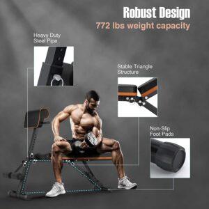 PERLECARE Adjustable FID Weight Bench