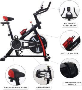 FAITE'S Exercise Bike Indoor 30lb Flywheel
