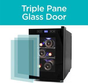 BLACK+DECKER BD60016 Wine Cellar triple glass door