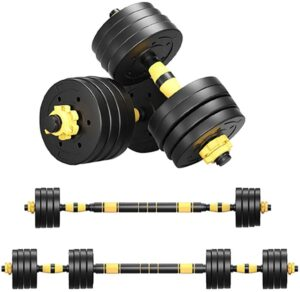 BRADEM Adjustable Weights Dumbbells Set, 22, 44, 66, 88, 110Lbs