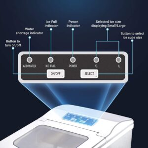 Artidy Countertop Ice Maker Display Panel