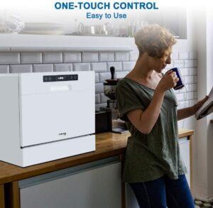 GASLAND Chef DW106WN Compact Countertop Dishwasher