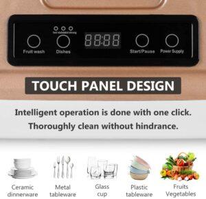 HAIMIM Portable Countertop Dishwasher Control Panel