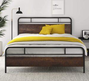 SHA CERLIN Heavy Duty Full Size Bed Frame