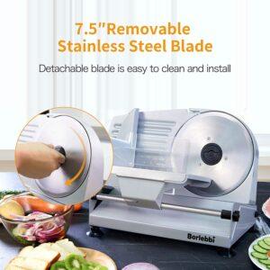 borlebbi meat food slicer 200W 7.5-inch Blades