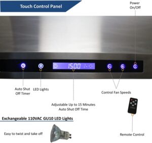 "Awoco RH-C06-A30 Classic 6"" High 1mm Thick 900CFM"