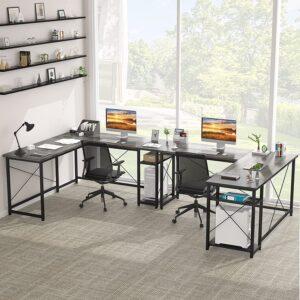Ecoprsio L-Shaped Large Desk Gaming Oak
