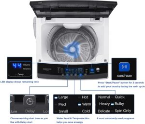 Helohome HLT16W 1.6 Cu.Ft. Portable Washer