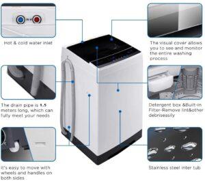 Helohome HLT16W 1.6 Cu.Ft. Portable Washing Machine