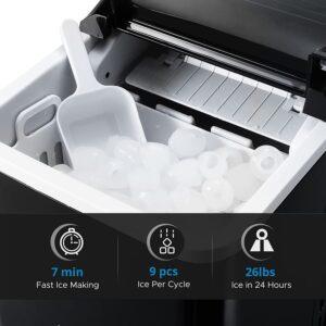 KINGSWERE Ice Maker Machine 26lb