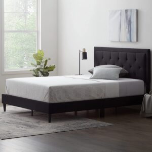 LUCID Upholstered Bed with Diamond Tufted Headboard