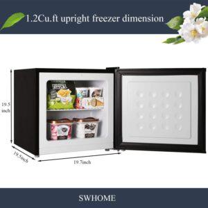 SWHOME Mini Upright Freezer