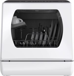 Hermitlux Countertop Portable Dishwasher with 5 Washing Programs