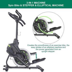 Marnur N-C Stepper Elliptical Machine 20lb Flywheel