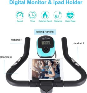 Wesoky Stationary Exercise Bike LCD Monitor